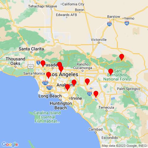 Map of Pomona, CA
