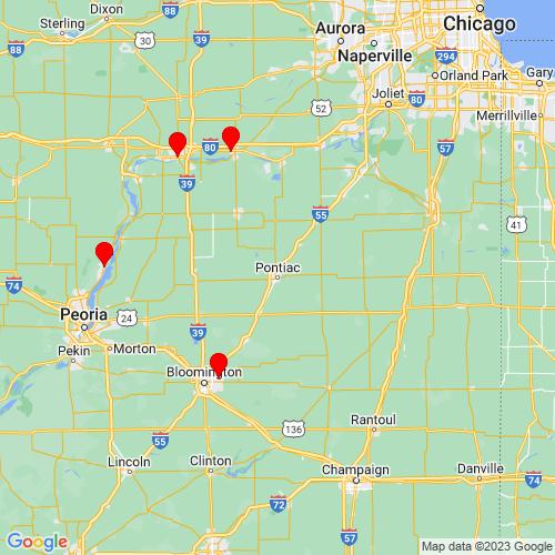 Map of Pontiac, IL