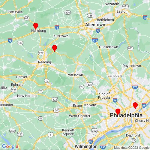 Map of Pottstown, PA