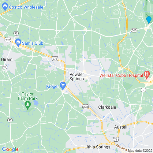 Map of Powder Springs, GA