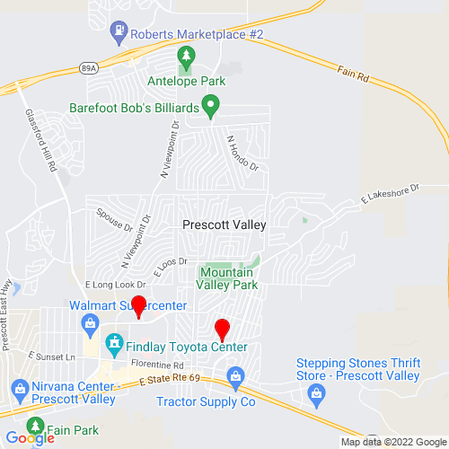 Map of Prescott Valley, AZ