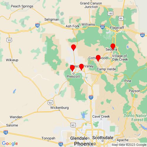 Map of Prescott, AZ