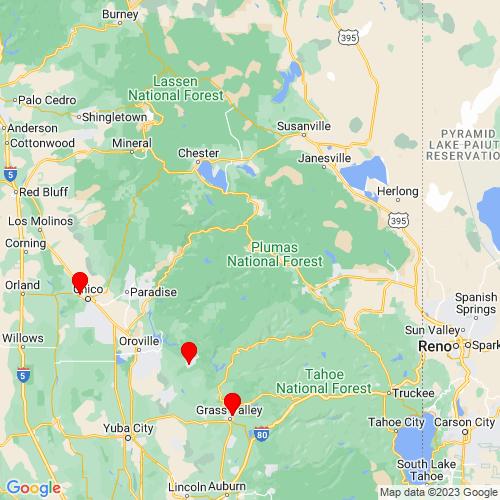Map of Quincy, CA
