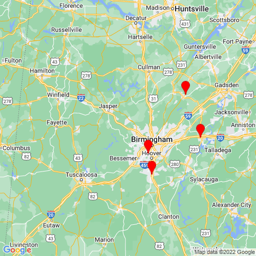 Map of Quinton, AL