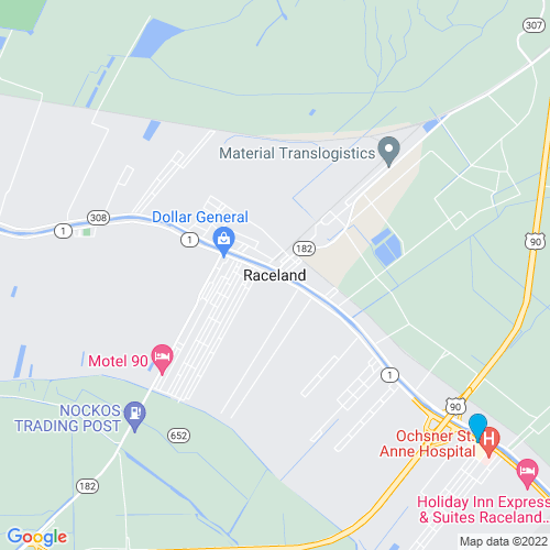 Map of Raceland, LA