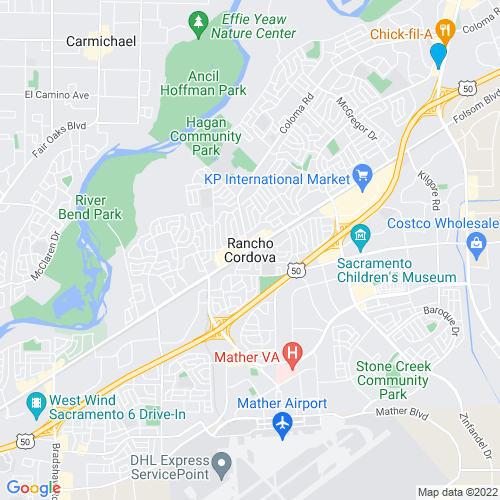 Map of Rancho Cordova, CA