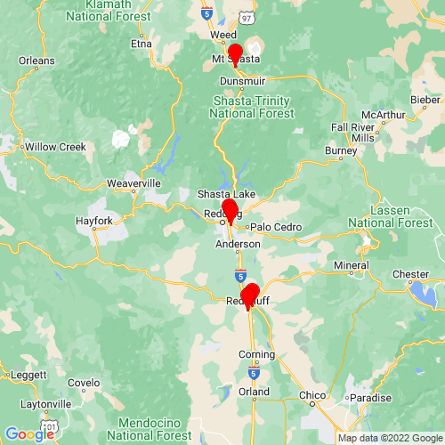 Map of Redding, CA