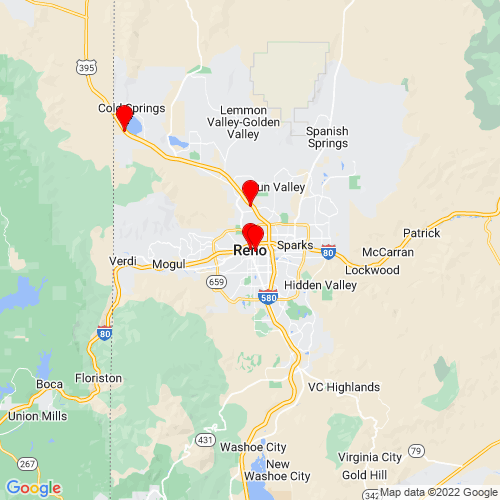 Map of Reno, NV
