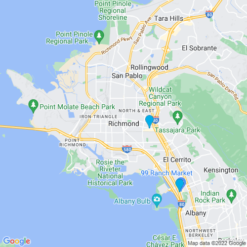 Map of Richmond, CA