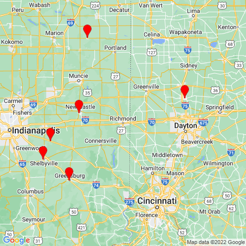 Map of Richmond, IN
