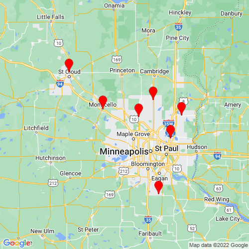 Map of Rogers, MN