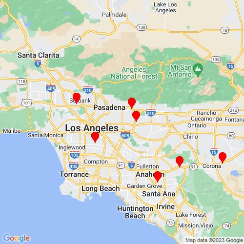 Map of Rosemead, CA