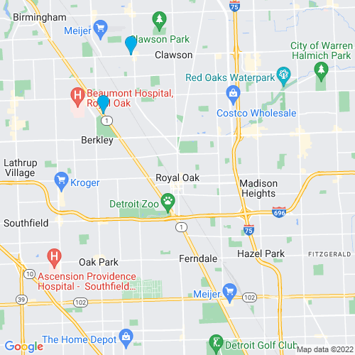 Map of Royal Oak, MI
