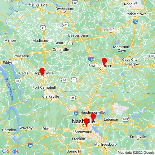 Map of Russellville, KY
