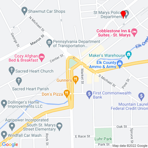 Map of Saint Marys, PA