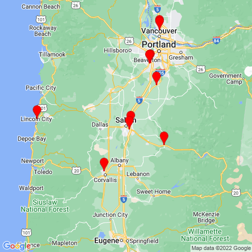 Map of Salem, OR