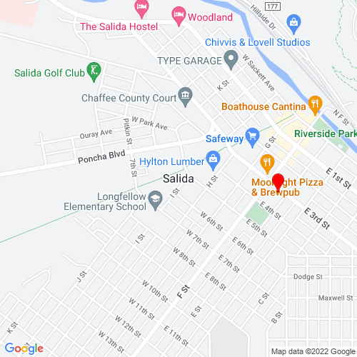 Map of Salida, CO