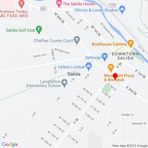 Map of Salida, CO