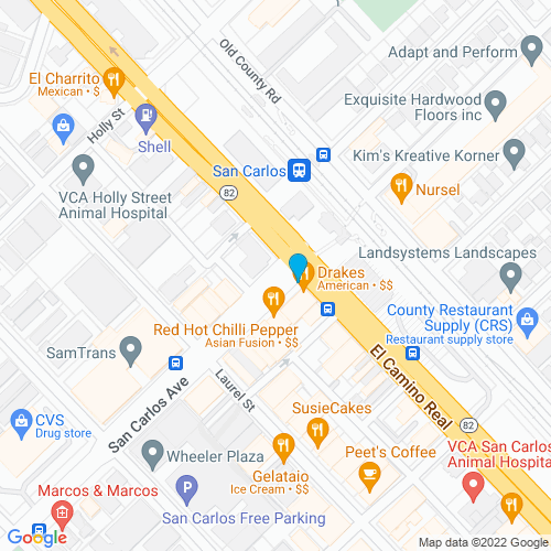 Map of San Carlos, CA