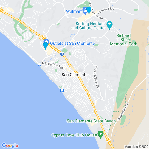 Map of San Clemente, CA