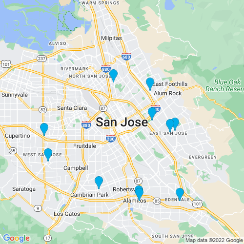 Map of San Jose, CA