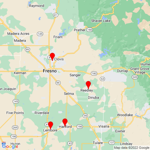 Map of Sanger, CA