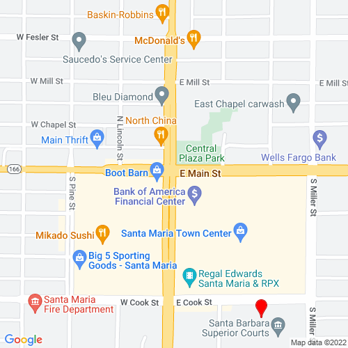 Map of Santa Maria, CA