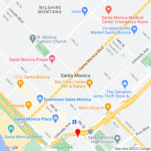 Map of Santa Monica, CA