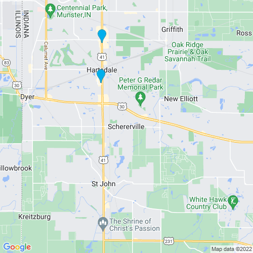 Map of Schererville, IN