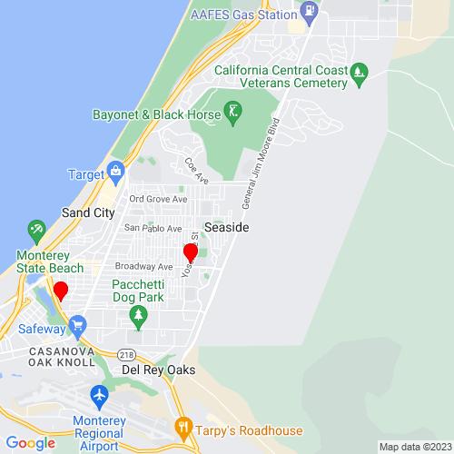 Map of Seaside, CA