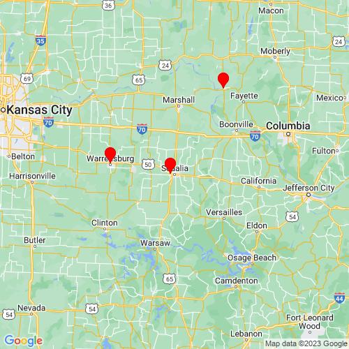 Map of Sedalia, MO