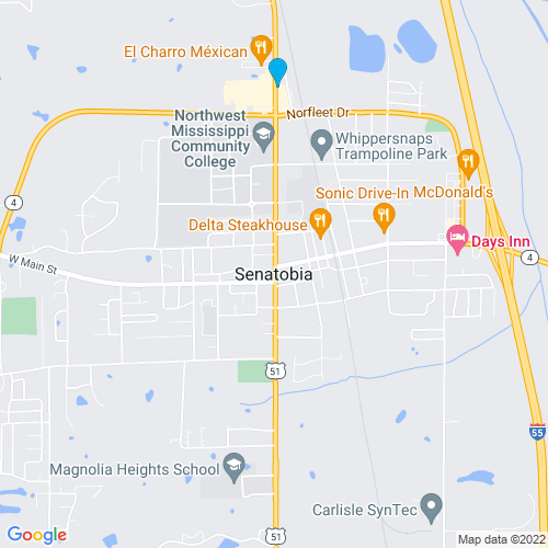 Map of Senatobia, MS