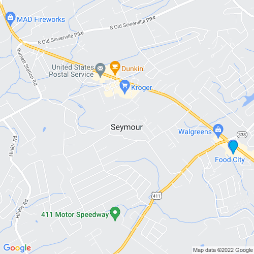 Map of Seymour, TN