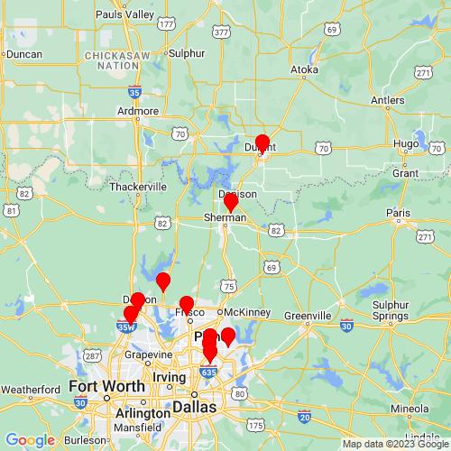 Map of Sherman, TX