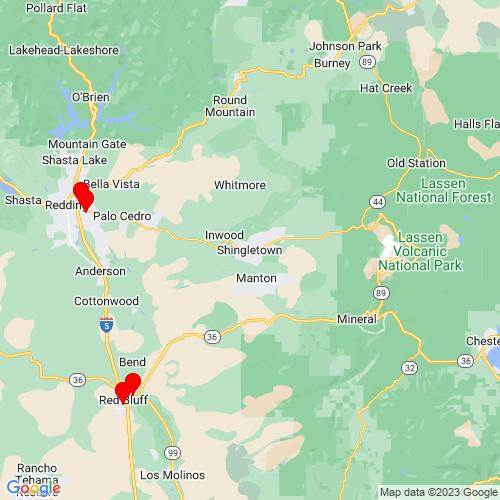 Map of Shingletown, CA