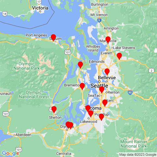 Map of Silverdale, WA