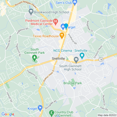Map of Snellville, GA
