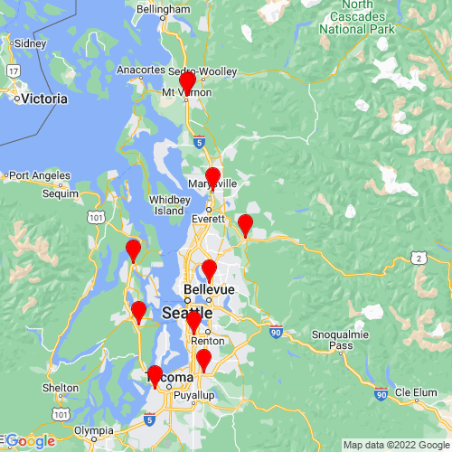 Map of Snohomish, WA