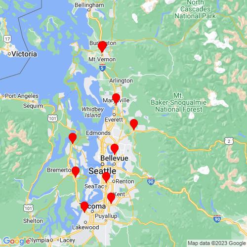 Map of Snohomish, WA