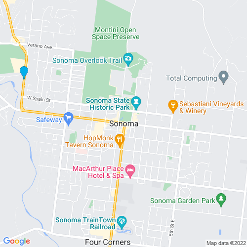 Map of Sonoma, CA