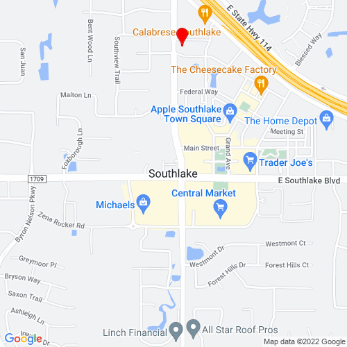 Map of Southlake, TX