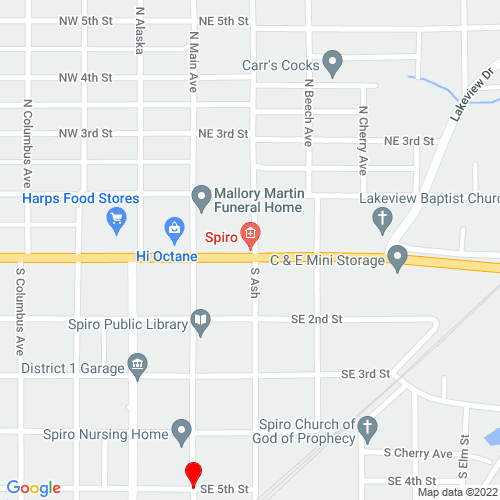 Map of Spiro, OK