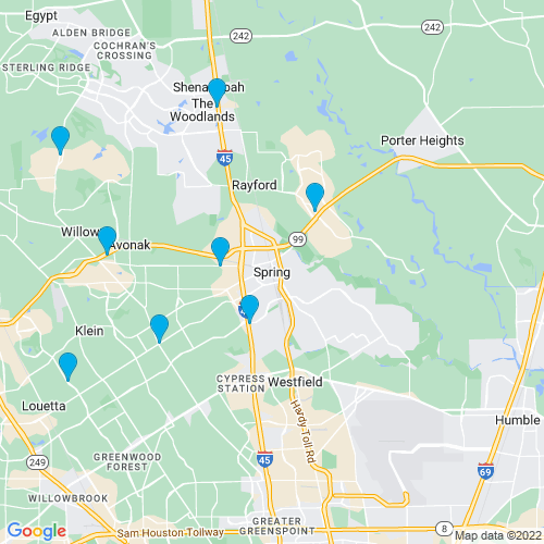 Map of Spring, TX