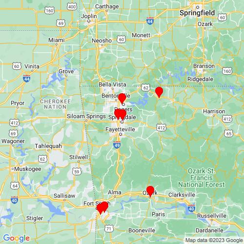 Map of Springdale, AR
