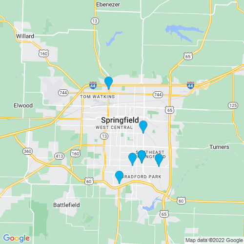 Map of Springfield, MO