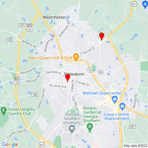 Map of Statesboro, GA