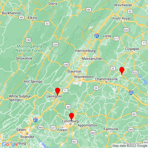 Map of Staunton, VA