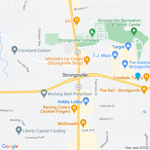 Map of Strongsville, OH