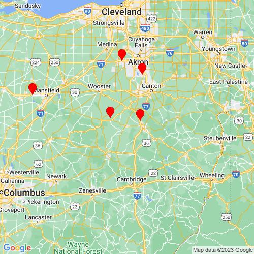 Map of Sugarcreek, OH