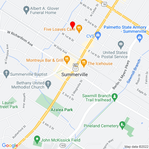 Map of Summerville, SC